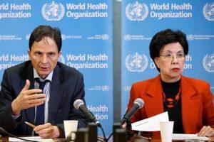 """Los directores de la OMS ayer, durante la rueda de prensa en la que comunicaron la """"emergencia global"""" por la relación entre el Zika y la microcefalia. Foto:Efe. Imagen Por:"""