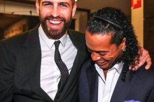 Ahora se reencontró con Gerard Piqué Foto:Vía instagram.com/ronaldinhooficial. Imagen Por: