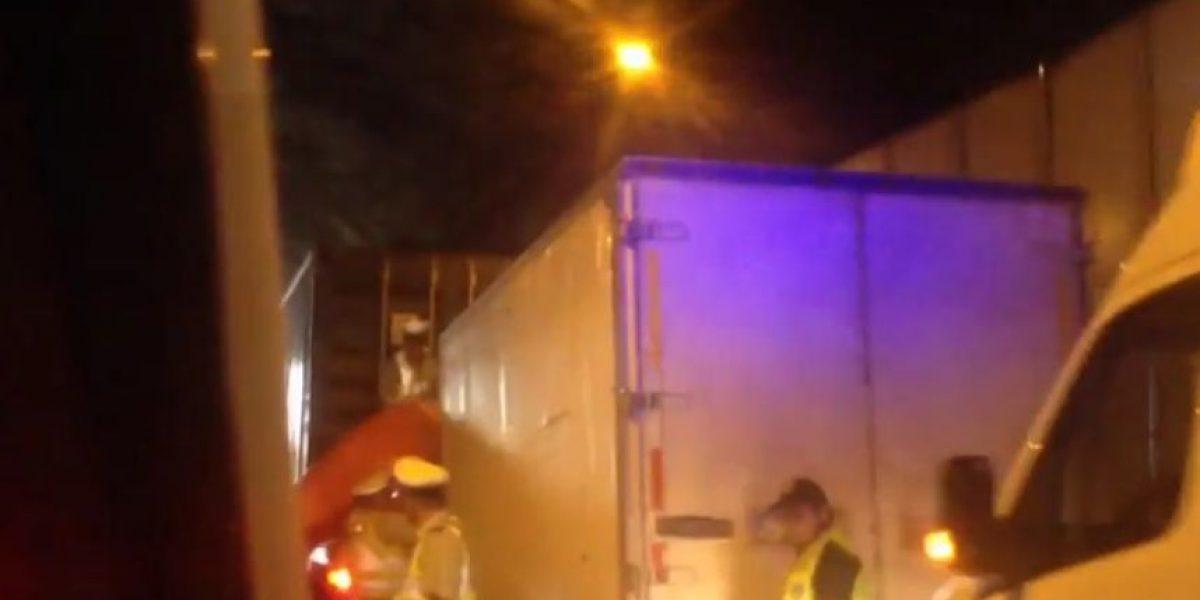 Accidente vehicular al interior del túnel Zapata dejó una víctima fatal
