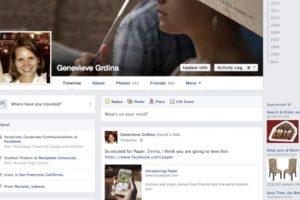 """2013-2014. Facebook introduce una aplicación llamada """"Paper"""" y se los colores se vuelven más sutiles. Foto:Vía Facebook. Imagen Por:"""