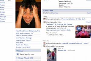 2006. La plataforma ya no recuerda a los usuarios que ese es su perfil. Foto:Vía Facebook. Imagen Por: