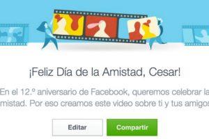 """Eliminen a las personas no deseadas del video por el """"Día de la amistad"""" en Facebook. Foto:Vía Facebook. Imagen Por:"""