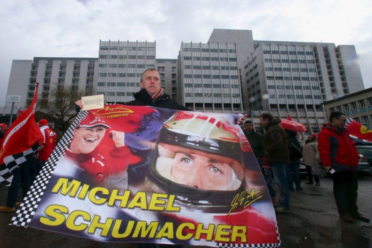 """""""Schumi"""" ha recibido muestras de afecto de sus fanáticos Foto:Getty Imags. Imagen Por:"""