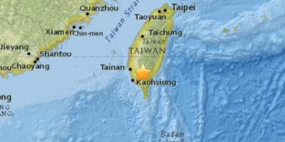 Sismo de 6,4 Richter sacudió el sur de Taiwán