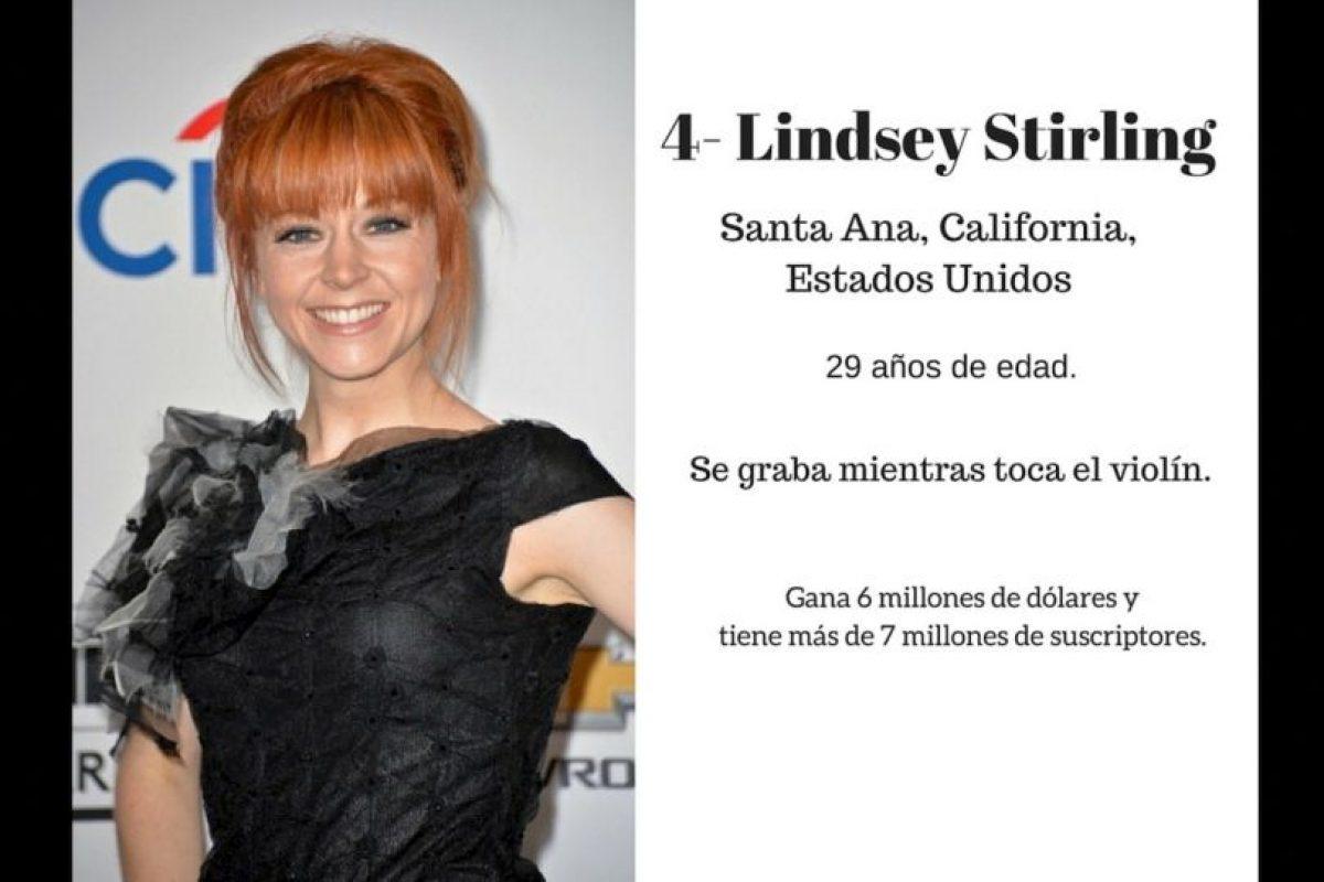 4- Lindsey Stirling: 6 millones de dólares. Foto:Especial / Getty Images. Imagen Por:
