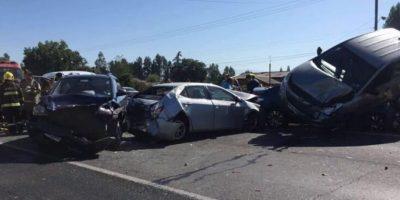 Diez heridos dejó choque múltiple en Ruta 5 Sur que generó