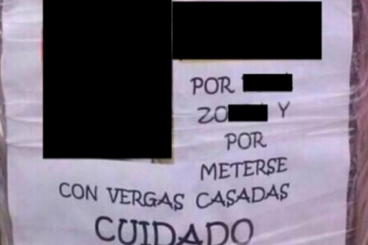La que advierte a los vecinos. Foto:vía Twitter. Imagen Por: