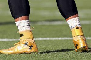 Y lo presumió durante el Super Bowl 50. Foto:Getty Images. Imagen Por:
