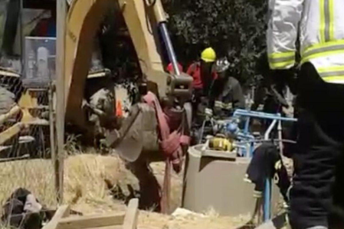 Las imágenes que dejó la arriesgada maniobra de rescate. Foto:Gentileza
