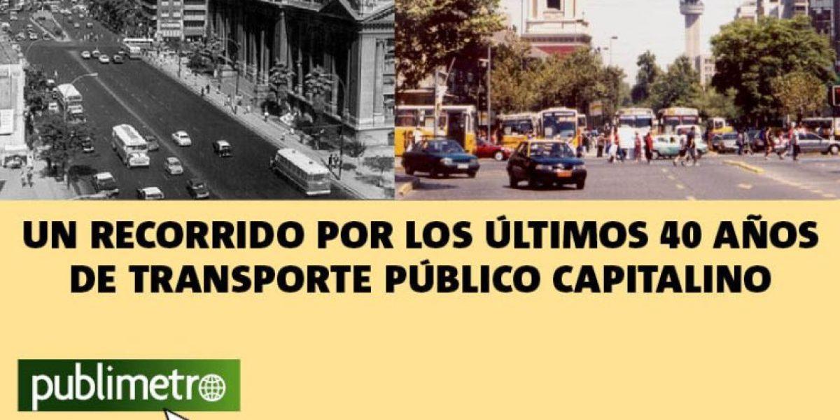 Infografía: un recorrido por los últimos 40 años  de transporte público capitalino