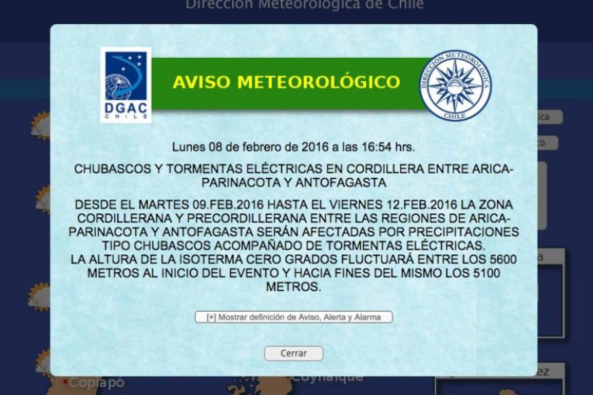 Foto:Reproducción / Meteorología
