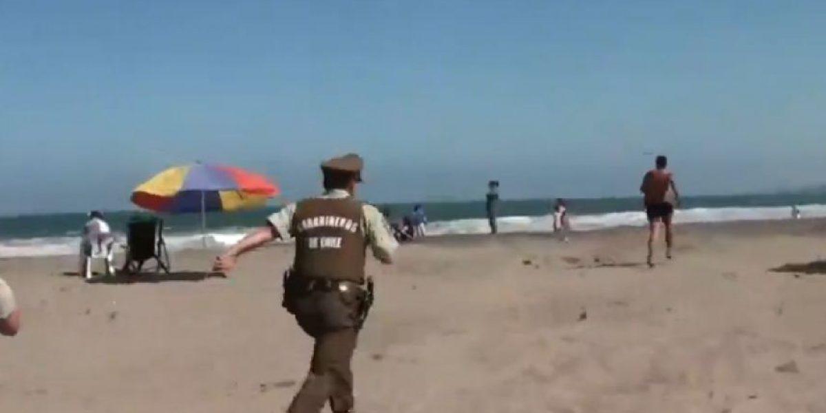 Cartagena: la insólita historia del delincuente que se metió al mar para huir de Carabineros
