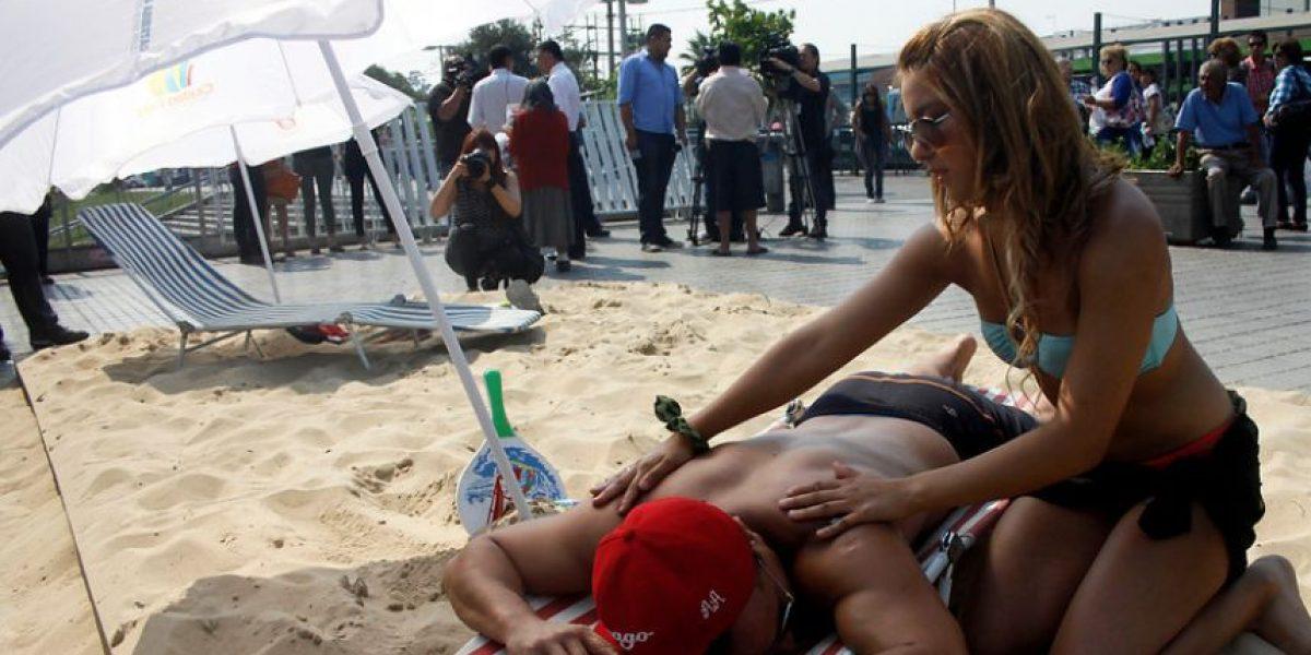 Playa artificial se tomará este jueves las calles de Santiago