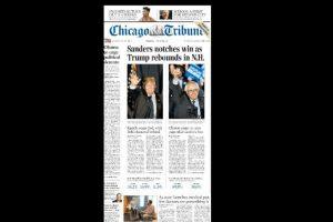 Por una parte Trump logró recuperar la primera posición. Foto:Chicago Tribune
