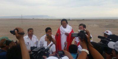 Ex presidente peruano realiza acto cerca de polémico distrito fronterizo con Chile