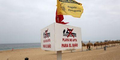 Fragata portuguesa ahora obliga a cerrar las playas Las Salinas y Las Torpederas