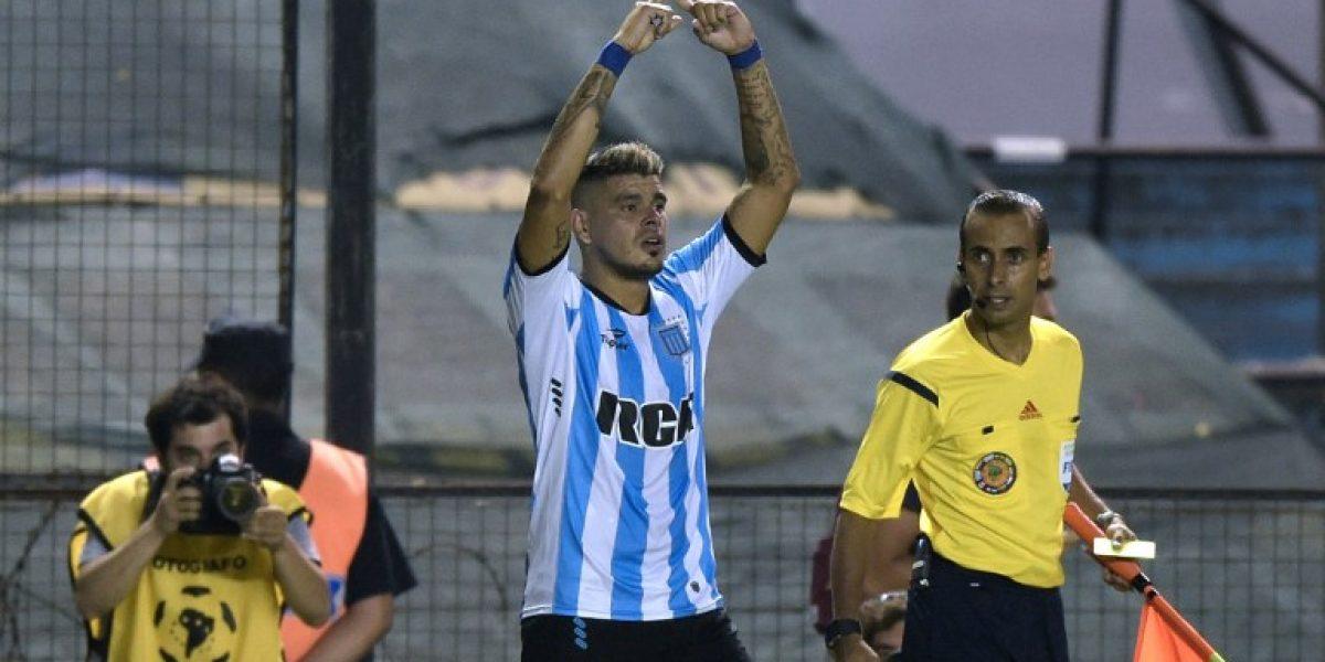 La exacerbada celebración de un pequeño hincha de Racing tras avanzar en la Libertadores