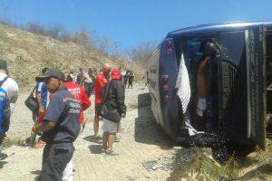 Imágenes del accidente del autobús de San Lorenzo Foto:AP. Imagen Por: