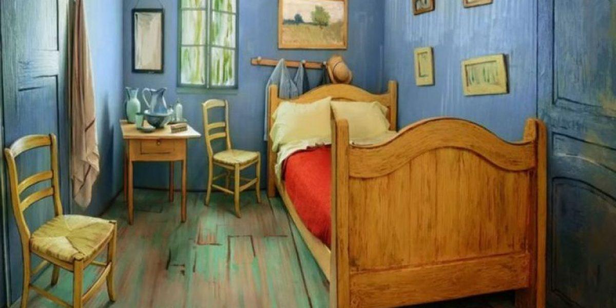 ¿La rentarías? Alquilan por 10 dólares la noche recreación de habitación de Van Gogh