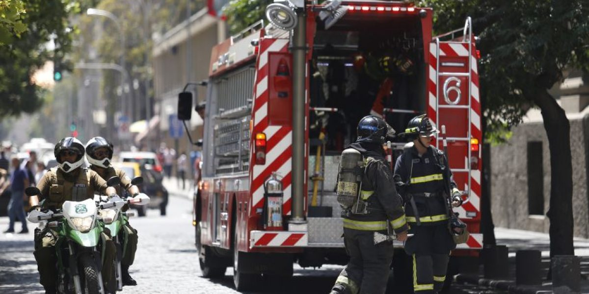 Amago de incendio afectó a dependencias del Banco Central