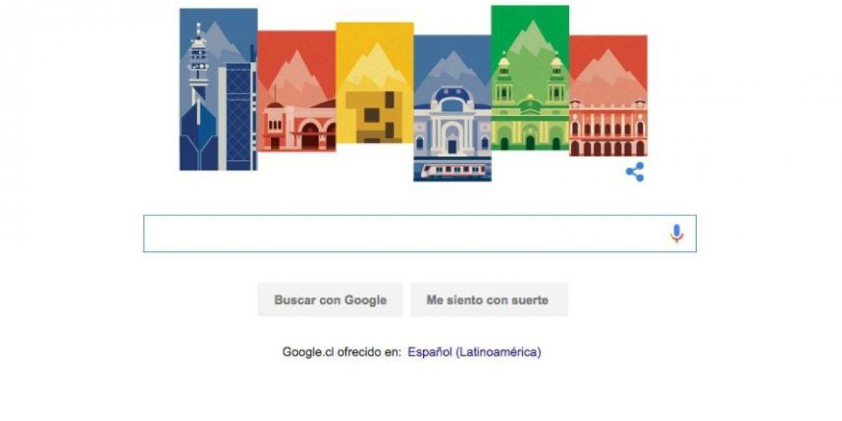 Google se suma a celebración de la fundación de Santiago con este doodle