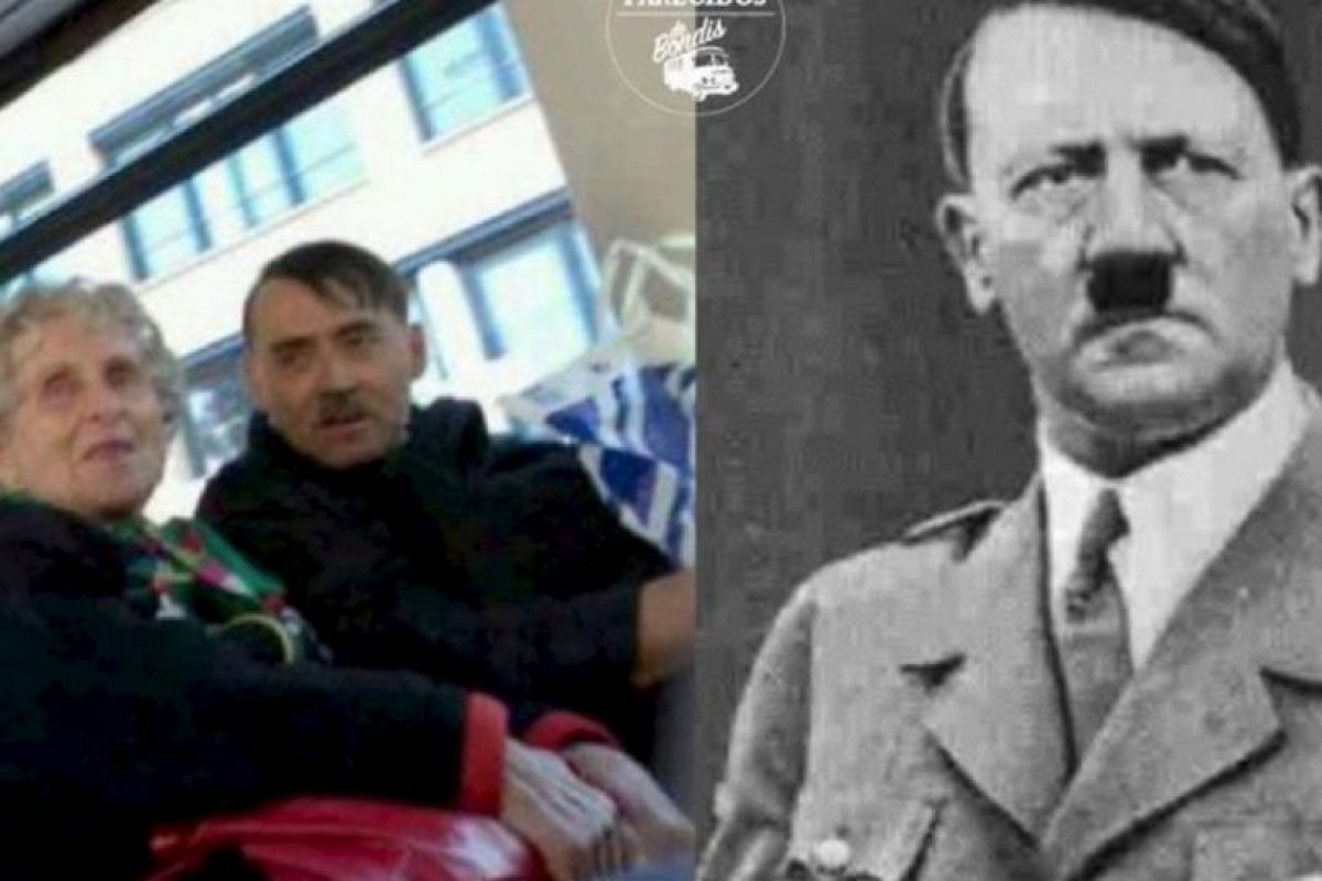 Hitler Foto:vía Facebook/ Parecidos de Bondis. Imagen Por: