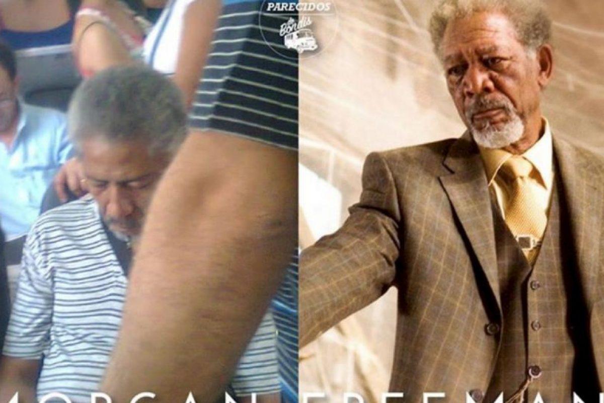 Morgan Freeman. Foto:vía Facebook/ Parecidos de Bondis. Imagen Por: