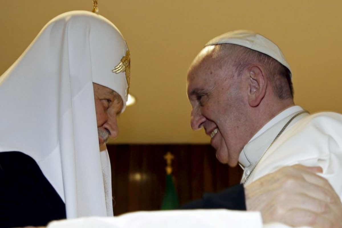 Las principales ramas del cristianismo tenían una enemistad desde el año 1054. Foto:AP