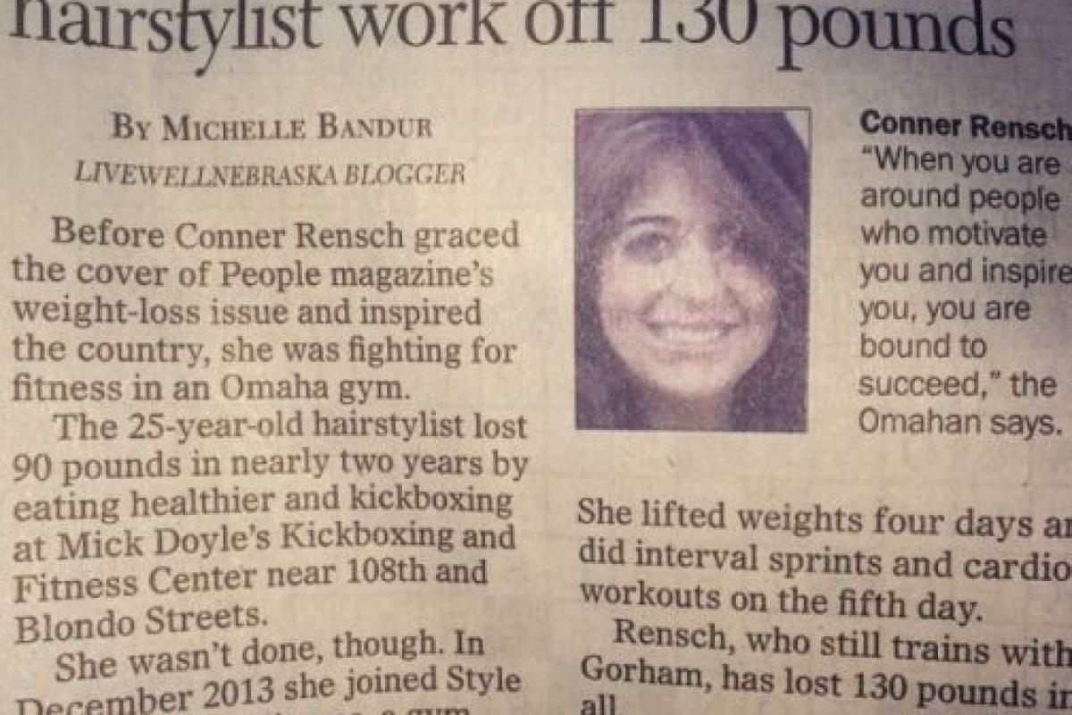 """En el periódico """"World Herald"""" Foto:Vía Instagram/@crensch"""