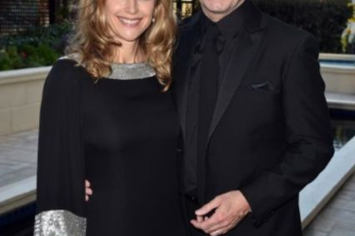 """5- John Travolta y Kelly Preston. Se conocieron desde 1987 en la película """"The Experts"""". Se casaron en 1991 y desde entonces están juntos. Foto:Getty Images"""