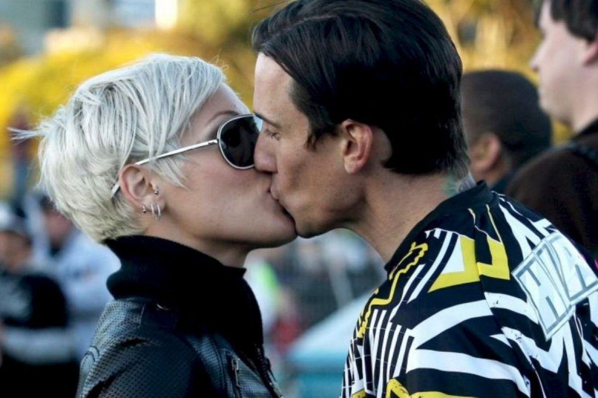 9- Pink y Carey Hart. Foto:Getty Images