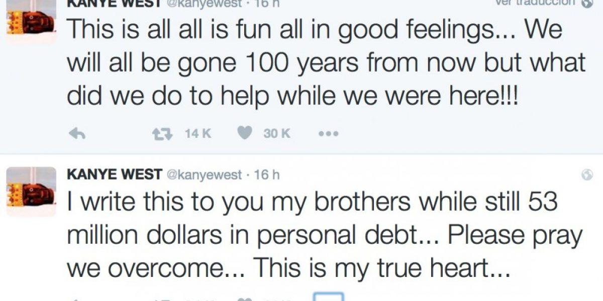 Kanye West afirma que tiene una deuda de millones de dólares