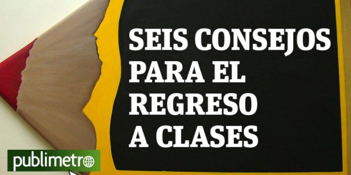 Infografía: seis consejos para el regreso a clases