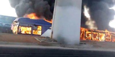 Chofer del Transantiago quemado acusa que las llamas se iniciaron por un atentado