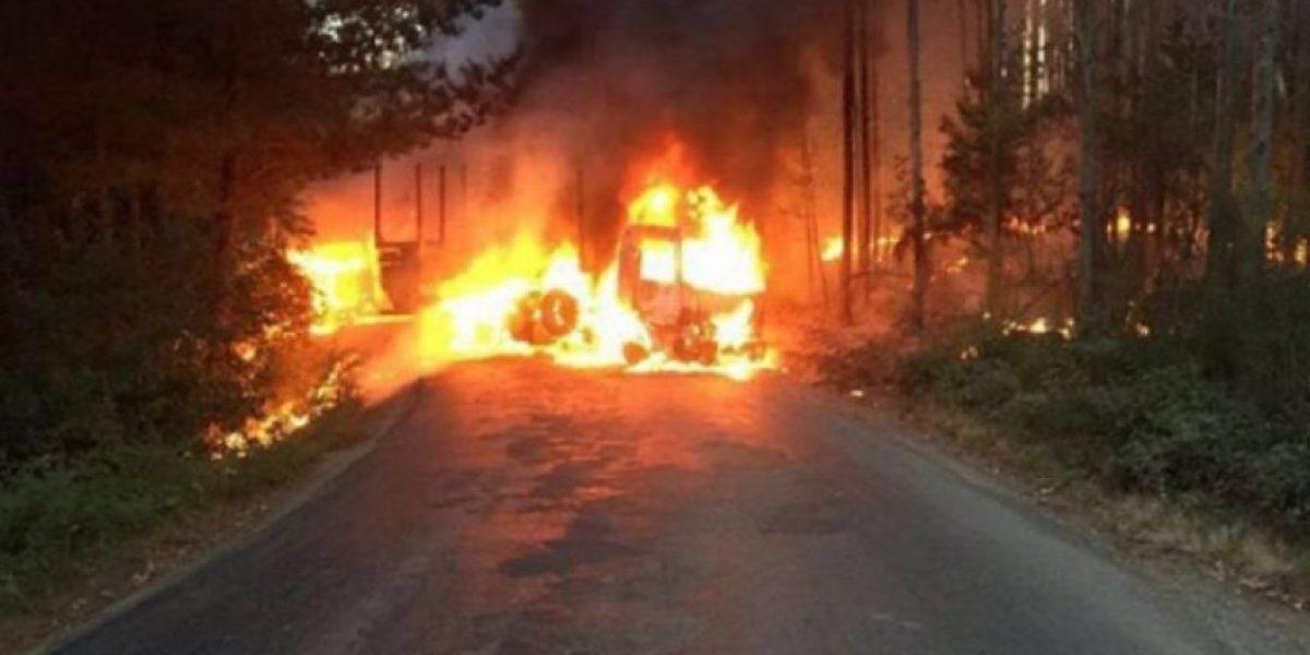 CAM reivindicó dos atentados a camiones registrados en Lanco y Lumaco