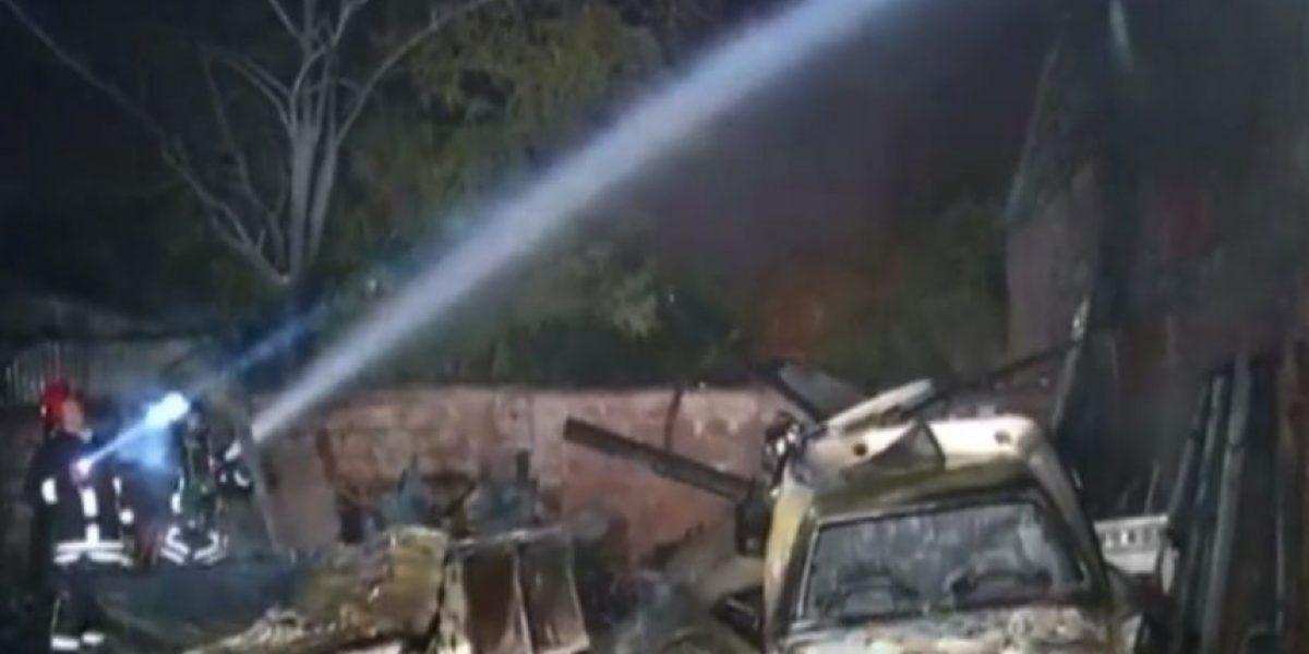 Cerrillos: incendio deja a un hombre desaparecido tras consumir cuatro casas