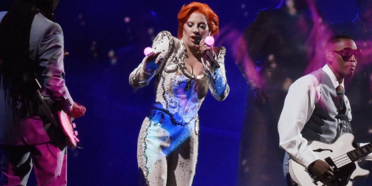 Así fue el homenaje de Lady Gaga a David Bowie en los Grammy 2016