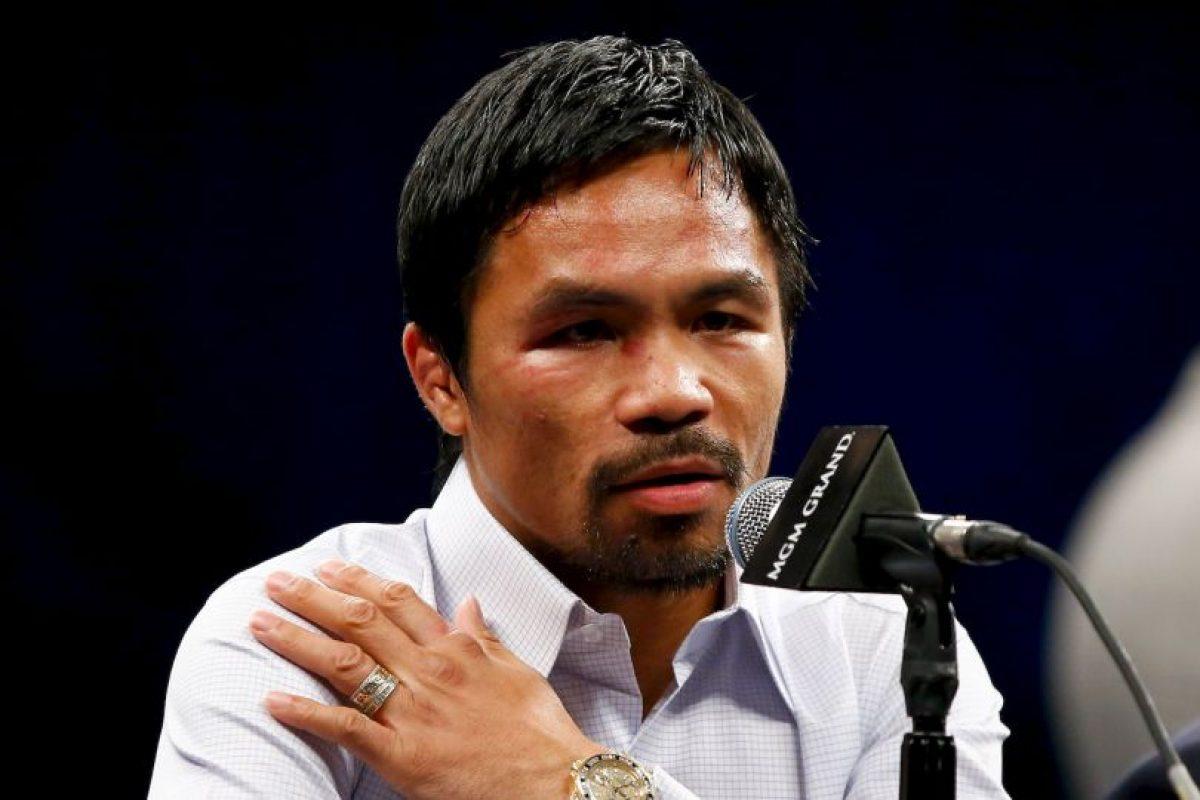 Manny Pacquio se metió en una gran polémica Foto:Getty Images. Imagen Por: