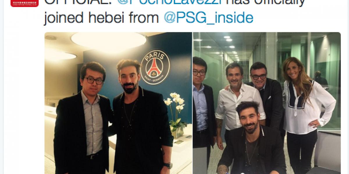 ¡Otro más! Ezequiel Lavezzi deja el PSG y seguirá su carrera en la liga de China