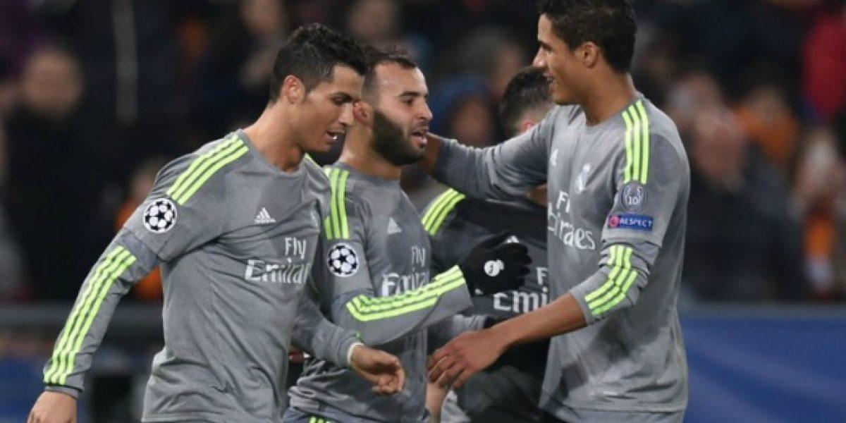 Los goles con que Real Madrid venció a domicilio a la Roma en Champions