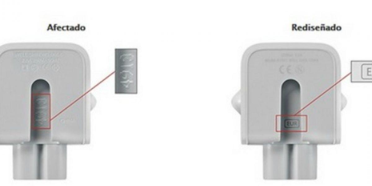 Sernac emite alerta de seguridad por adaptadores de corriente Apple