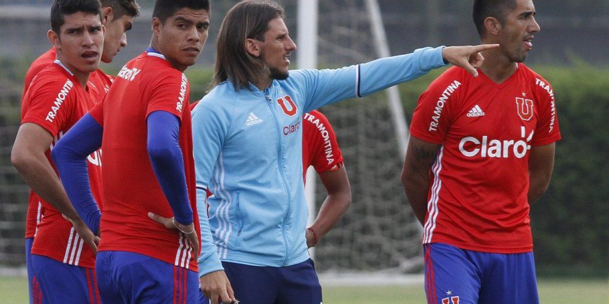 Sebastián Beccacece intenta arreglar el mal momento de la U con doble entrenamiento