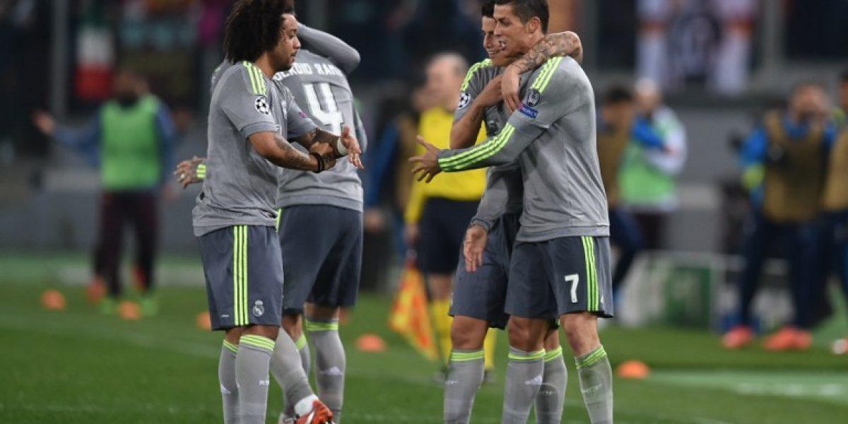 Cristiano Ronaldo abrió el camino de un Real Madrid que dio el primer golpe ante Roma