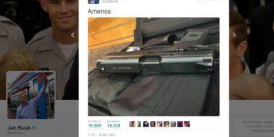 La pistola de Jeb Bush indigna a las redes sociales