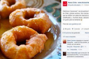 El mensaje original publicado en el Facebook de Marca Chile. Foto:Reproducción / Marca Chile – SoyChile. Imagen Por:
