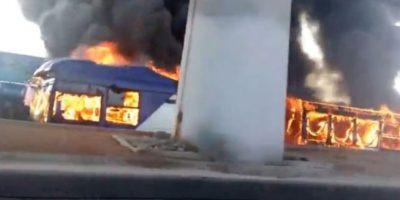 Invocan Ley Antiterrorista por bus que se quemó por artefacto explosivo en La Florida