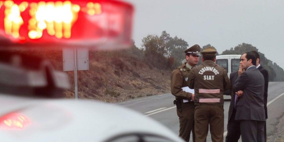Talca: una persona muerta y otra lesionada dejan tres accidentes carreteros