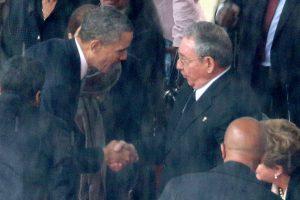 El 10 de diciembre, en los funerales de Nelson Mandela Foto:Getty Images. Imagen Por: