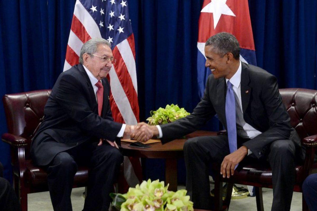 Cuando ambos se reunieron en Nueva York, en la sede de Naciones Unidas, con motivo de la 70 Asamblea General Foto:Getty Images. Imagen Por: