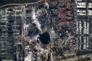 Chen Jie. Vista aérea de la explosión en Tianjin, China. Foto:worldpressphoto.org. Imagen Por: